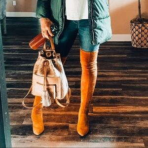 Shoes - Goodnight Macaroon Over The Knee Suede Boots